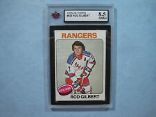 1975/76 TOPPS NHL HOCKEY CARD #225 ROD GILBERT NM/MINT+ KSA 8.5 SHARP+ 75/76