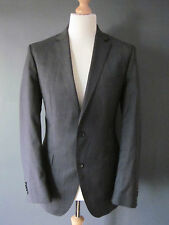 "HUGO BOSS SUIT ""THE JAM2/SHARP2"" (40x33x30) GREY WOOL S/BREAST 2 BUTTON Details"