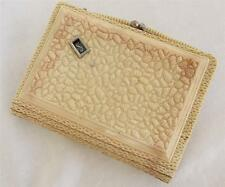 Vintage 1920's Art Deco Cream Celluloid Purse Bag with Rotating Monogram