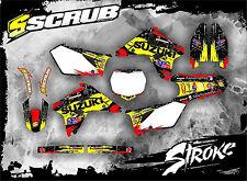 Suzuki Dekor RMz 450 2007 Grafik Aufkleber '07 SCRUB