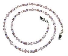 Light Amethyst Austrian Crystal / Purple Bead Mix Eyeglass Chain