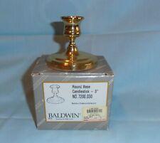 "Baldwin Solid Brass 3"" Candlestick, Lot of 3, NIB"