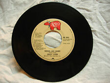 ANDY GIBB (LOVE IS) THICKER THAN WATER / WORDS AND MUSIC 45 RPM RECORD CANADA