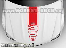 BS2002 Alfa Romeo bonnet racing stripes graphics stickers decals MiTo Giulietta