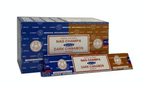 Satya Dark Cinnamon Nag Champa Incense JossSticks 15g available in 3 or 12 Pack