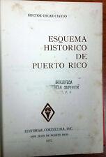Esquema Historico de Puerto Rico por Hector Oscar Ciarlo Puerto Rico 1972