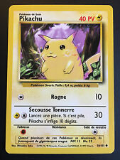 Carte Pokemon PIKACHU 58/102 Commune Set de Base Wizard Française NEUF