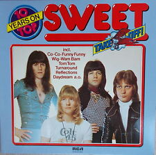 LP The Sweet ‎– 10 Years On Top ,NEAR MINT TOP,cleaned, RCA International ‎