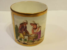 Early 19th Continental Hand Painted Continental Coffee Can