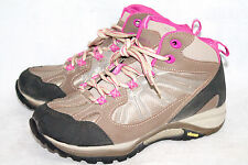 MERRELL Wo's 6.5 High Top Hiking Trail Boot Vibram Sole Tan Fuchsia