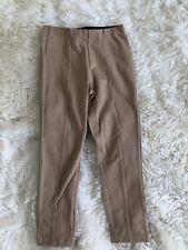 Zara Girls Size 8 Ponte Knit Leggings Dark Beige Skinny Nwt