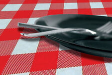 25 x Red Gingham Disposable Paper Tablecloths Covers Party [5055202148079]