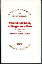 MONTAILLOU, VILLAGE OCCITAN de 1294 à 1324 - E. Le Roy Ladurie 1976