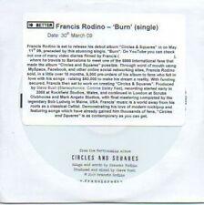 (703C) Francis Rodino, Burn - DJ CD