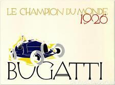 Bugatti Le Champion Du Monde 1926 Fine Art Lithograph Ernst Deutsch Dryden