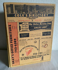 1970 Coles Dallas Texas Directory Phone Book Ads, History 70's Hardcover