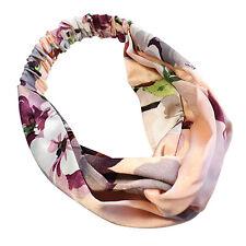 Mujer Wrap Yoga elástica Turbante floral torcida anudada pelo venda venda