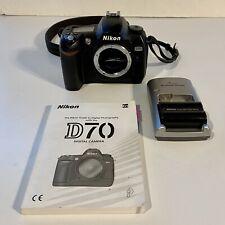 Nikon D D70 6.1MP Digital SLR Camera - Black (Body Only)