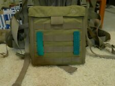 Green reflective patch for tactical gear Molle loops. 1 x 4 inches. 2 pcs.