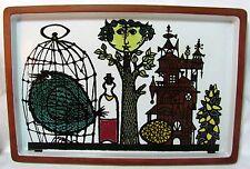 STIG LINDBERG Sweden KARNEVAL Rectangular 1958 Grand Faience Tray Pottery MCM