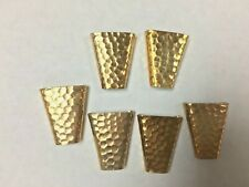 Bolo slides metal yellow gold plated with design lot of 12