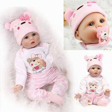 Realistic Reborn Baby Dolls Handmade Newborn Vinyl Silicone Girl Doll Xmas Gifts
