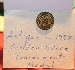 1937  Golden Gloves Tournament Boxing Medal Chicago Tribune Official Rare