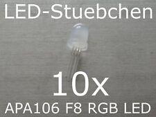 10x APA106 F8 / P9823 / YF923 - 8mm RGB LED mit integriertem Controller