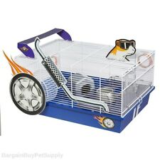 Midwest Critterville Hot Rod Car Hamster Cage Home White Blue
