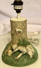 Vintage Collectible Disney Winnie The Pooh Ceramic Charpente Lamp