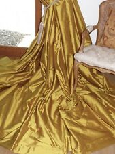 """HARLEQUIN Interlined CURTAINS Mimosa SILK Gilt Gold Ea 75""""W 114""""D NEW Last Pair"""