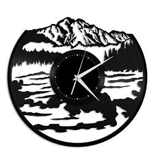 Mountains with water Vinyl Wall Clock,Unique Gift Home Office Decor