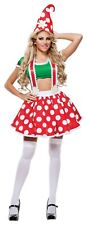 Starline Toadstool Gnome Sexy Adult Halloween Costume Size Small No Hat #5210