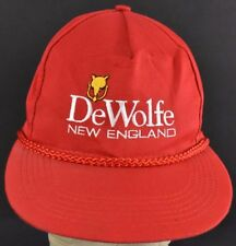 Red DeWolfe New England Embroidered baseball hat cap Adjustable Snapback