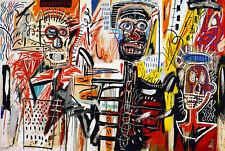 Jean Michel Basquiat  Philistine Modern Abstract Canvas Fine Art 20 x 30 Inch A1
