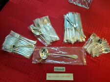 MÉNAGÈRE PERLES SUPERBE 49 PIECES  CHRISTOFLE SILVER PLATED FLATWARE SET N2