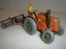 Dinky no 301 FIELD MARSHALL  tractor & 321 disc harrow set Vintage 1950's