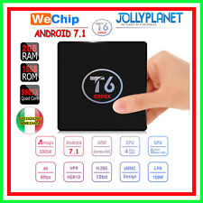 T6 Wechip Android 7.1 Quad-Core 2GHz 2GB 16GB TV BOX 4K 60fps IPTV WiFi S905X