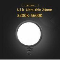 CM-200D 3200K-5600K Bi-Color LED Round Light Video Lamp Lighting for SLR Camera