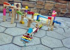 100pcs Music Motion Wooden Marble Runs Construction Set Maze Building Blocks
