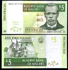 MALAWI 5 KWACHA 2005 P 36 UNC LOT 10 PCS