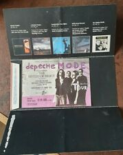 Depeche Mode Devotional Tour Ticket And Folder 31 July 1993 Crystal Palace