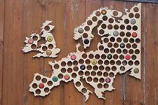 Europe Beer Cap Map Bottle Cap Holder Collection Gift Art