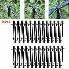 50PCS Adjustable Water Flow Irrigation Drippers on Stake Emitter Drip Sprinklers