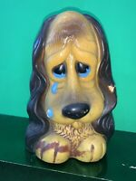 Vtg Plastic Sad Puppy Dog Bank. Made In 1973 By Russ Berrie & Co. USA