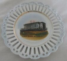"OLD SOUVENIR CHINA DESMOINES IA MUNICIPAL BUILDING GERMANY 5 3/4"" RETIC PLATE"