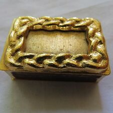 MINI GOLDEN  MATCH BOX HOLDER WITH  EMPTY MATCH BOX, NO MATCHES (B11)