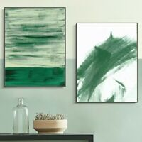 2 Piece Canvas Prints - Abstract Green Watercolor Wall Art Home Decor (UNFRAMED)