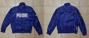 Puma Motorsport Jacket Size M Vintage Blue Moto 2000/05