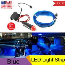 2M Blue LED Car Interior Decor Atmosphere Wire Strip Light Lamp Car Accessories
